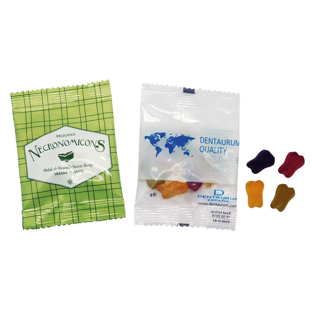 Bolsa 10 g. caramelos con forma